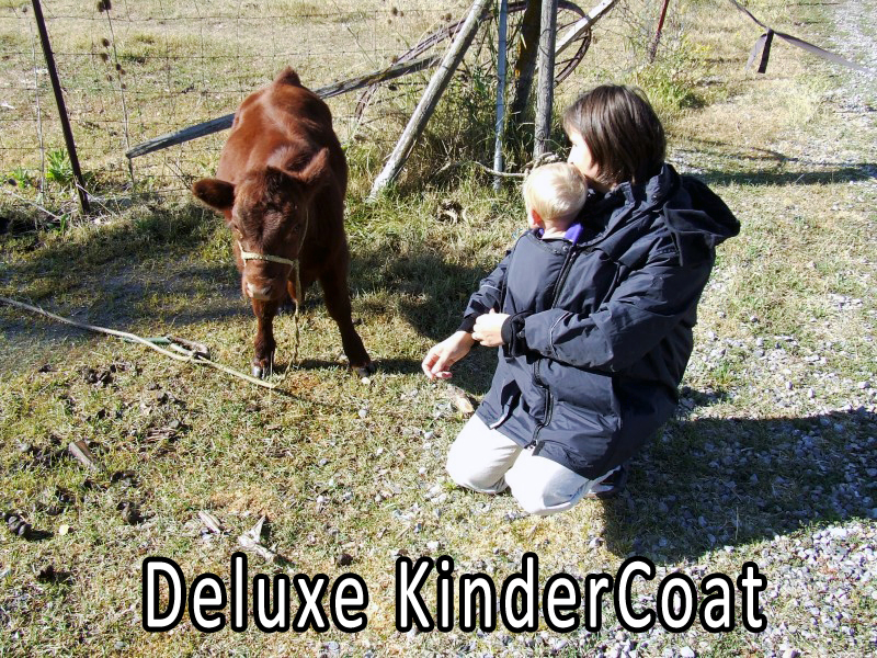 Deluxe KinderCoat keeps you both warm in a front, hip, or back carries.