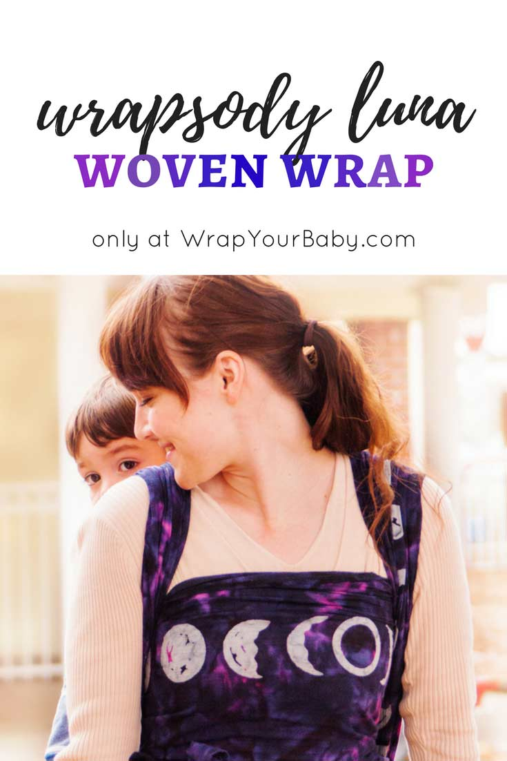 cd5ae623930 Wrapsody Luna Woven Moon Phases Wrap for babywearing