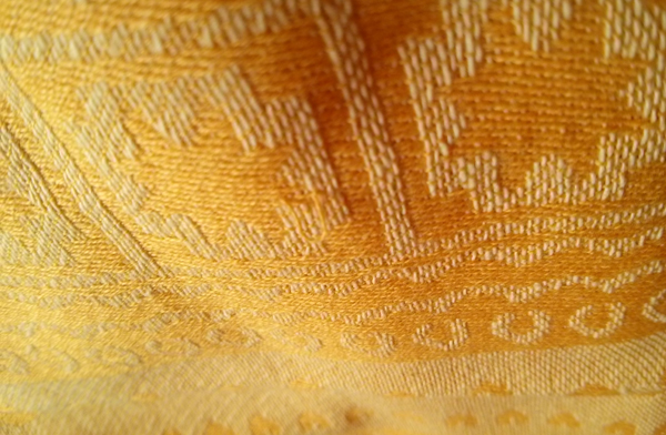 Close up of All-Cotton Woven Wrap Weave