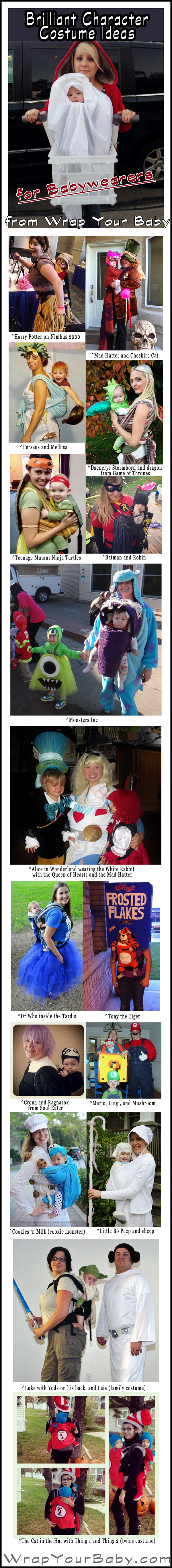 Literary Costumes for Babywearers