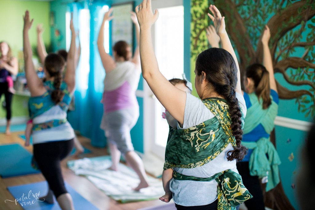 Yoga Class for Wrapping Moms and Babies