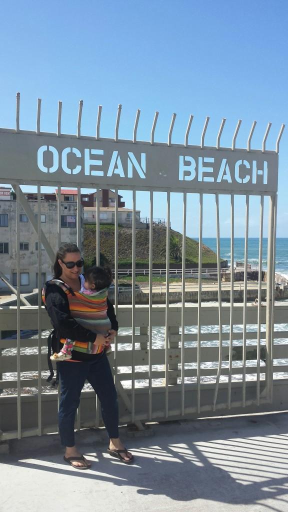 Babywearing Camp Pendleton: Babywearing at Ocean Beach