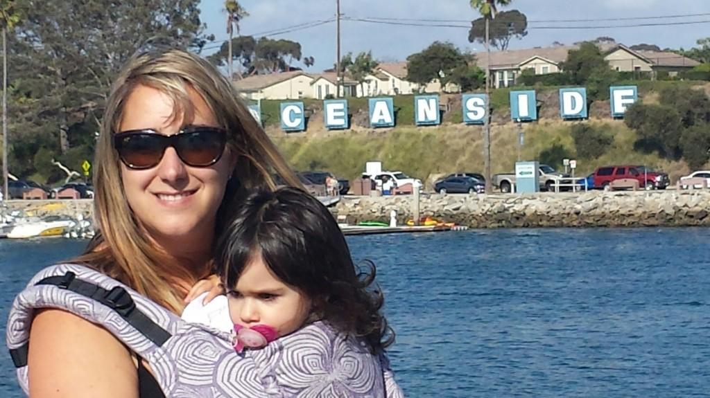 Camp Pendleton Babywearing Group at Oceanside.