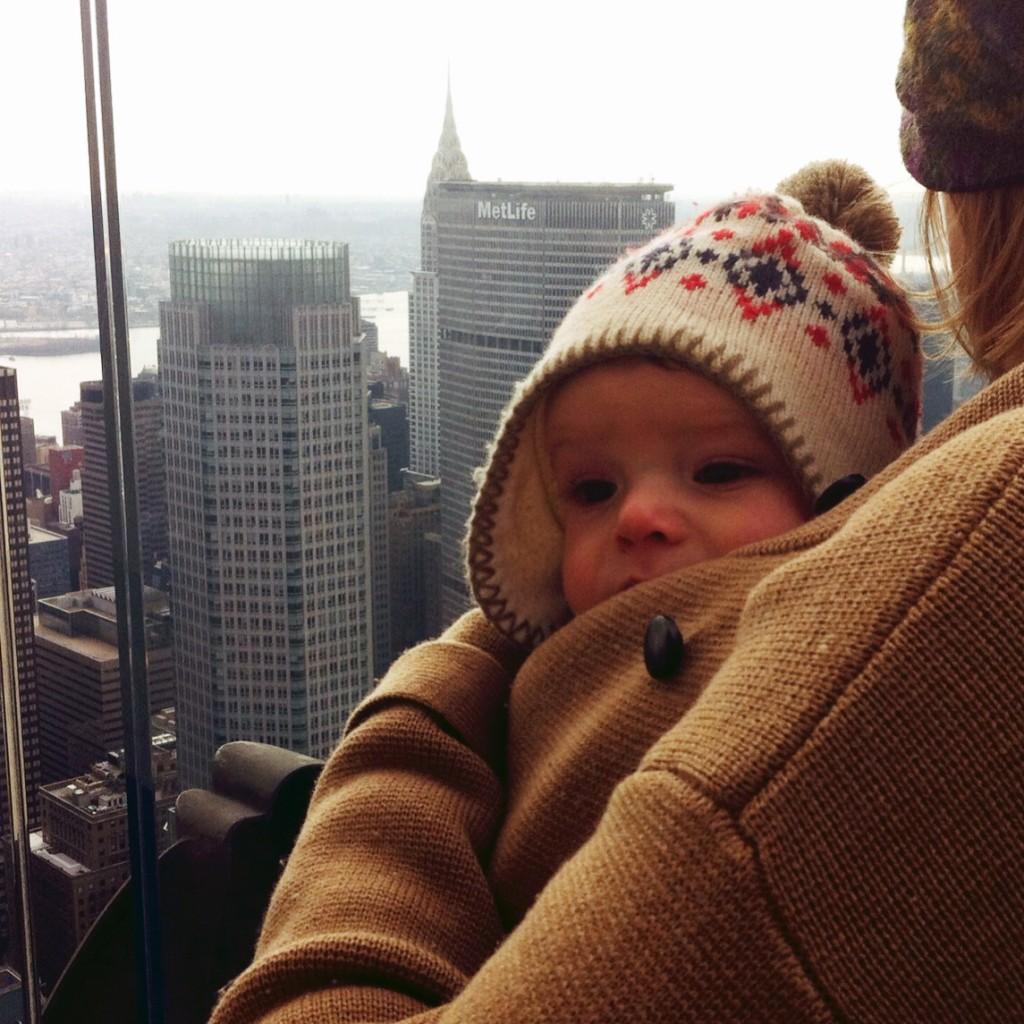 BWI of NYC Chrysler Buidling Babywearing