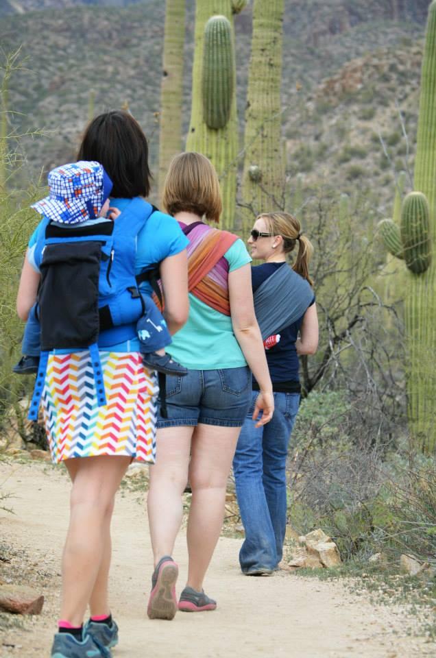 Babywearing in Saguaro National Park