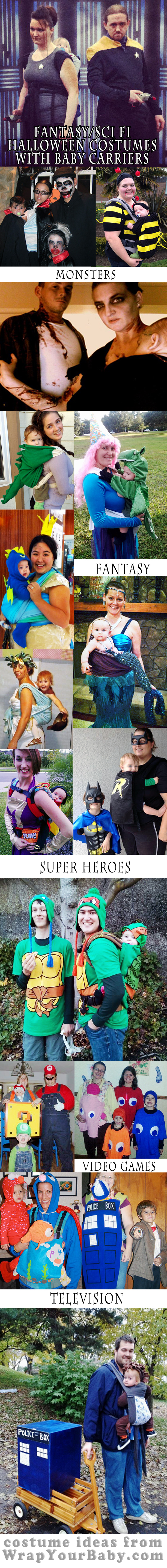 Babywearing Costumes: Fantasy, Science Fiction, Horror, Monster, Super Hero
