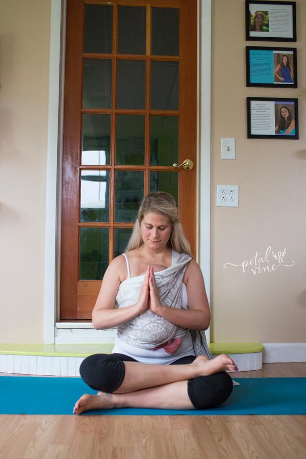 Babywearing Square Pose yoga pose