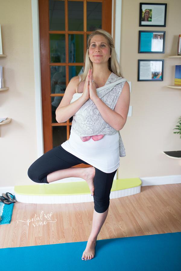 Babywearing Yoga Tree Pose