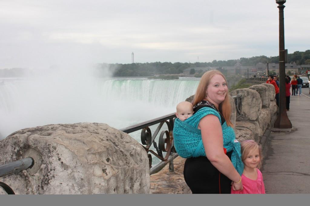 Babywearing at Niagara Falls