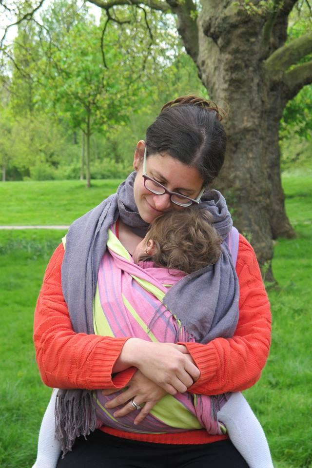 Wrapped up for an Intro to Babywearing Walk with Walking Mum London