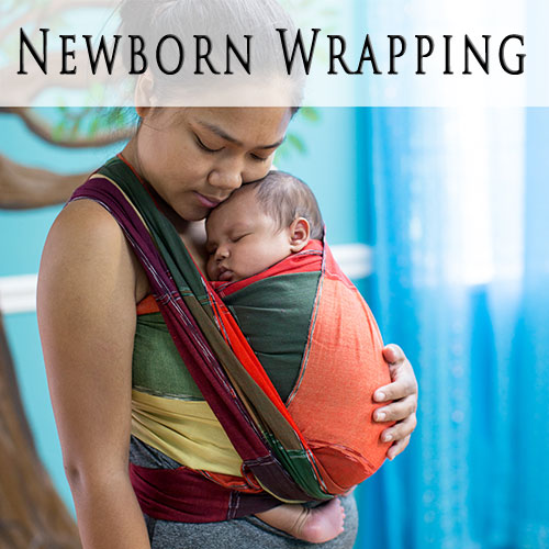 91752f8a37f Learn how to use a woven wrap with a newborn baby.
