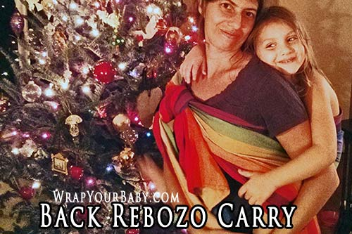 Back Rebozo Carry with a Short Woven Wrap