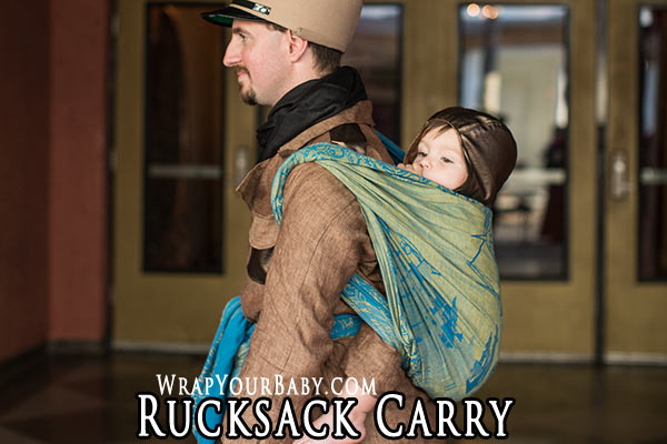 Rucksack Carry Tied in Front