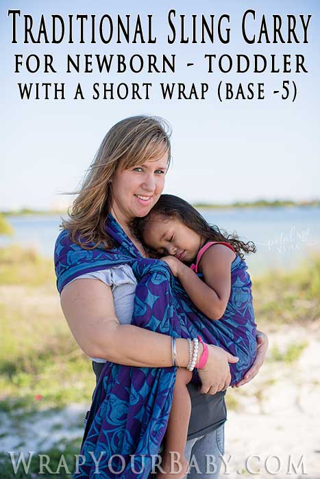Traditional Sling Carry Tsc Woven Wrap Tutorial Wrap