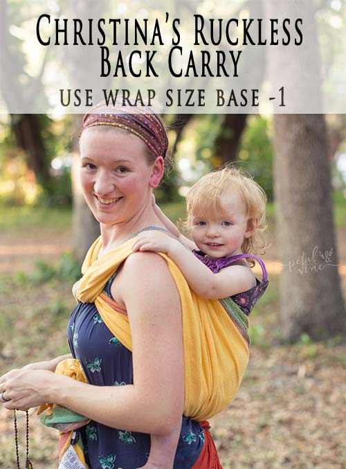 Christina S Ruckless Back Carry Wrap Your Baby