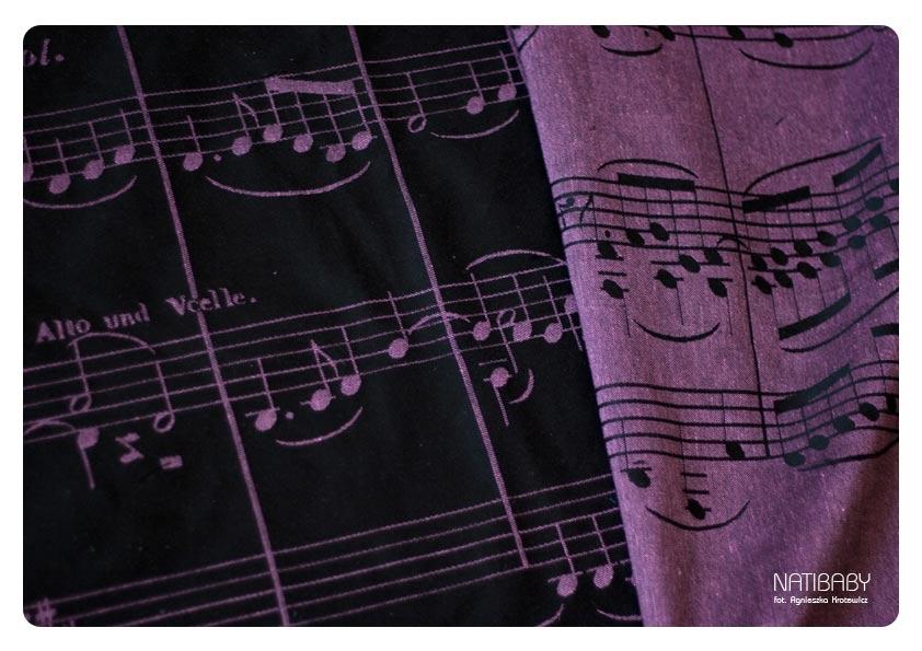 Black/Pink Linen Ode to Joy Wrap