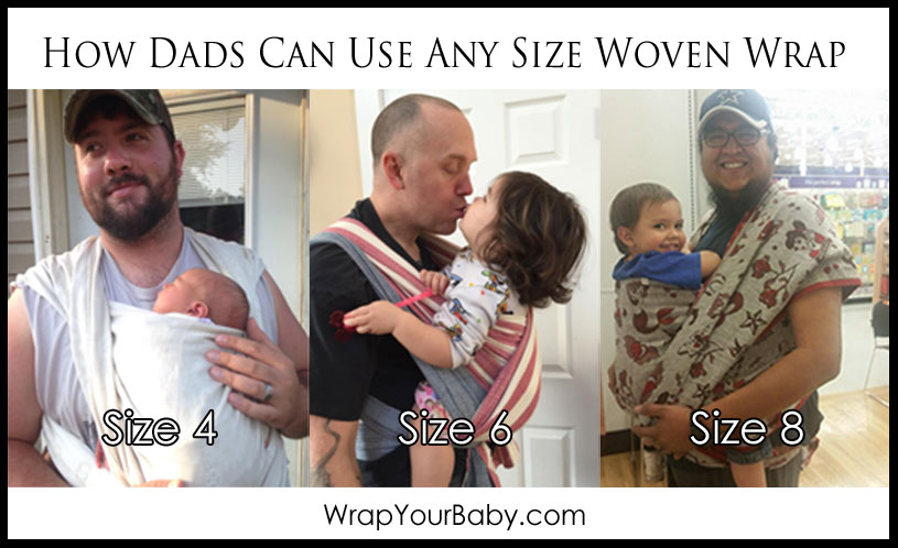 Wrap Sizes For Babywearing Dads Wrap Your Baby